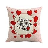 UFACE Mixtes Housses de Coussin Lin La Saint - Valentin Imprimé Love Doux Carré 45x45 Zip démontable Lavables pourlaMaisonConfortable Taies d'oreillers décoratives,Cadeau de Valentine's Day...