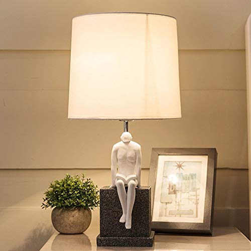 Americana Regal (HQYXGS Decoración artesanal-Home artesanías decoraciones Tela Americana Creativa Lámpara de mesa Retro moderno salón dormitorio estudio Simple lámpara -Mejor Regalo (Color : 1001))