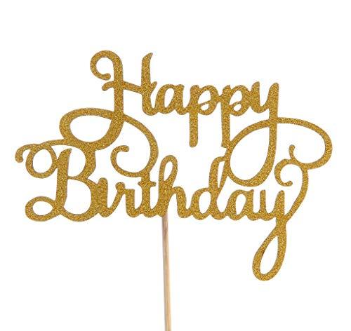 Kaalido Handgefertigte Happy Birthday Kuchenstecker zur Dekoration für Geburtstagskuchen