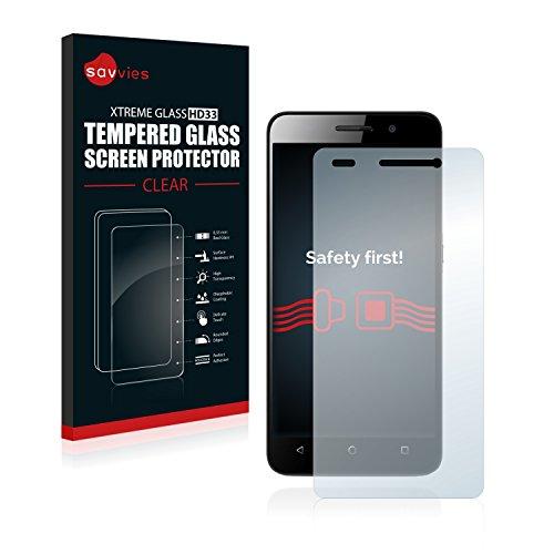 Savvies Panzerglas kompatibel mit Huawei G Play Mini - Echtglas Schutzfolie 9H