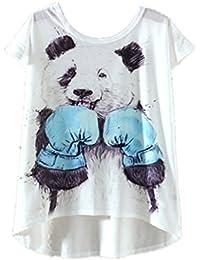 YICHUN Femme Fille Léger Tops T-Shirt Tee-shirt de Loisir Tees Camisole Tunique Blouse Caraco