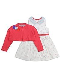 The Essential One - Baby Kinder Mädchen Kleid und Strickjake - Rosa - EOT307