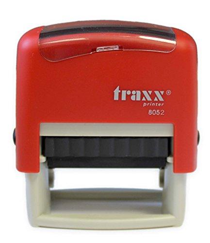 Textstempel Traxx 8052 selbstfärbender Stempelautomat, bis zu 4 Zeilen selbstgestalten, 18 x 47 mm