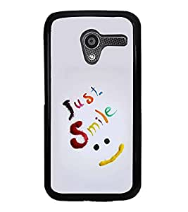 PrintVisa Designer Back Case Cover for Motorola Moto X :: Motorola Moto X (1st Gen) XT1052 XT1058 XT1053 XT1056 XT1060 XT1055 (Quote Case Just Keep Swimming Text Quote)