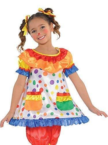 Fancy Me Mädchen Gepunktetes Clown Kleid & Bloomers Zirkus Karneval Kostüm Kleid Outfit 4-6 Jahre -