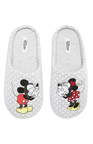 Primark licenza disney minnie mickey mouse pantofole scivolare su muli taglia s m l, m (uk 5-6, eu 38-39)