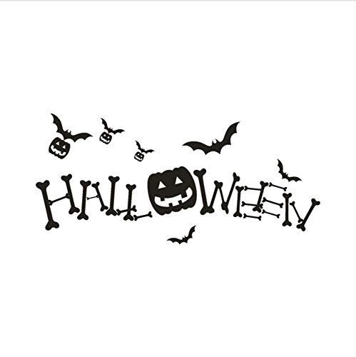 aufkleber Urlaub Dekoration Design Happy Halloween Kürbis Wandaufkleber Fenster Dekoration Aufkleber Dekoration ()