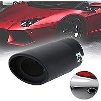 62 mm Tubo de Escape de acero Inoxidable Trim Car Tip Tail Silenciador Cola Garganta Negra para Universal Auto Styling
