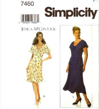 simplicity-7460-vestido-de-mujer-tallas-jessica-mcclintock-tamano-h-6-8-10-12
