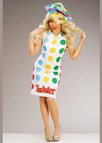 Kostüm Twister - Struts Twister-Brettspiel-Kostüm für Erwachsene Large (UK 16-18)