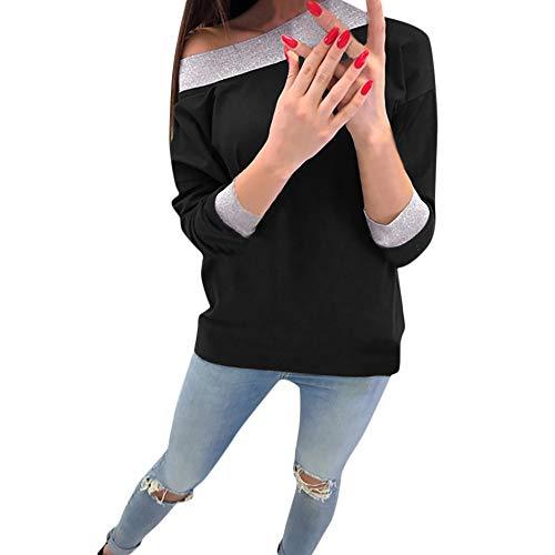 Dorical Sweashirt Damen Herbst Winter Warme Rot Grau Schulterfreier Oversize T-Shirt Lange Billig Kaufen Elegante Schicke Hochwertige Stylische Schöne Sale