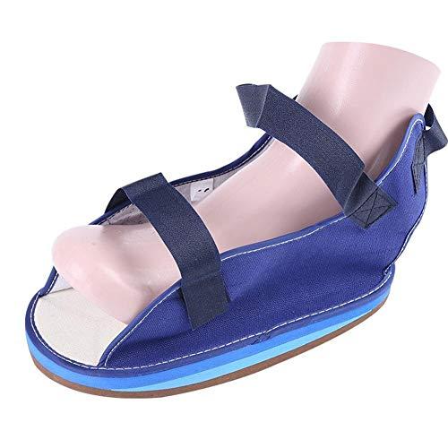 LOVEQIZI Eco Canvas Open Toe Gipsform Schuh Short Fracture Walker Boot - Ideal für stabile Fuß- und Sprunggelenksfrakturen, Achillessehnenoperationen, akute Knöchelverstauchungen, Pflege,ML - Leinwand Open Toe