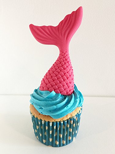 1 großer Zucker Meerjungfrau Schwanz: Rosa / 1 Large Sugar Mermaid Tail: Bright Pink