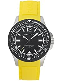 Nautica Reloj Analógico para Hombre de Cuarzo con Correa en Silicona  NAPMAU005 95090cea3281
