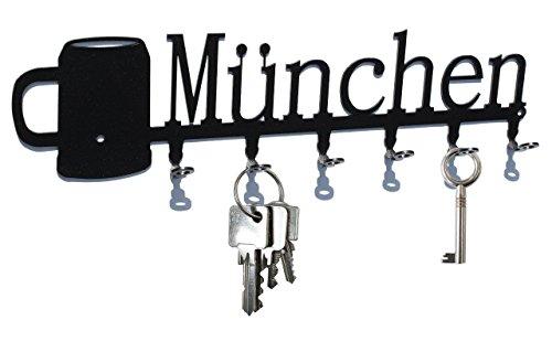 Schlüsselbrett / Hakenleiste * München Bierkrug * - Oktoberfest - Schlüsselboard, Schlüsselleiste, Metall 6 Haken (Bierkrug Haken)