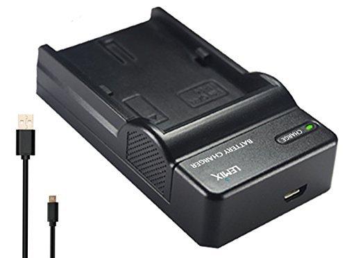 Lemix (VBK180 /VBK360) Caricatore USB Ultra Sottile slim per batterie Panasonic VW-VBK180 / VW-VBK360 per modelli (elencati qui sotto) PANASONIC serie HC, HDC e SDR
