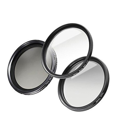 Walimex Pro Filter Starter Komplett-Set (Durchmesser 62mm, MC inkl. Polfilter, UV Filter und ND...
