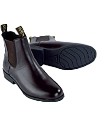 Saxon Equileather Pull On Boot, color negro–UK 9EU 27