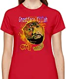 Ghostface Killah Tshirt for Women Short Sleeve Womens T-Shirt with Custom Design Round Neck Womens Jersey Top Clothing 100% Cotton Fabric Tees
