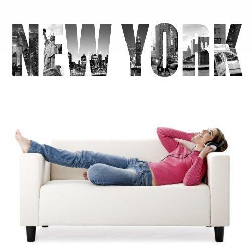 sticker-mural-new-photos-de-york-fois-different-noir-blanc-taille-130cmx30cm