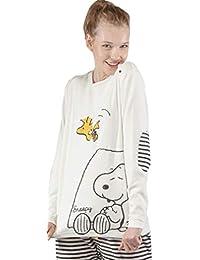 GISELA Pijama Polar para Mujer de Snoopy