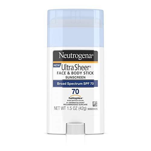 Neutrogena Sunscreen Ultra Sheer Stick SPF 70, 1.5 Ounce (Sunscreen Spray Neutrogena)