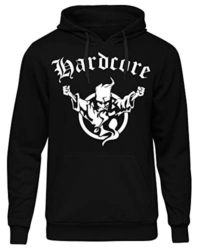 Hardcore Kapuzenpullover   Hard Harder Hardstyle   Musik   Electro   Minimal   Deejay   Männer   Rock   Pop   Herren   DJ   M1 (XL) Musik Sweatshirt