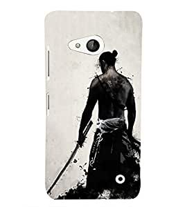 Takkloo warrior man with weapon,white background, blood) Printed Designer Back Case Cover for Microsoft Lumia 550