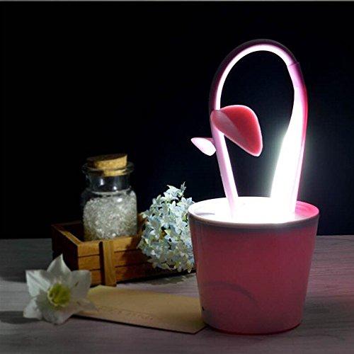 dern Schlafzimmer Lagerplatz Lampe Blumentopf Touch Lamp LED Falt Lampe Durchmesser 15Cm Rosa Tischlampe 3.5 W ()