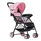 Poussette légère et Facile à Plier, Chariot de bébé Portable à Quatre Roues 0-3...