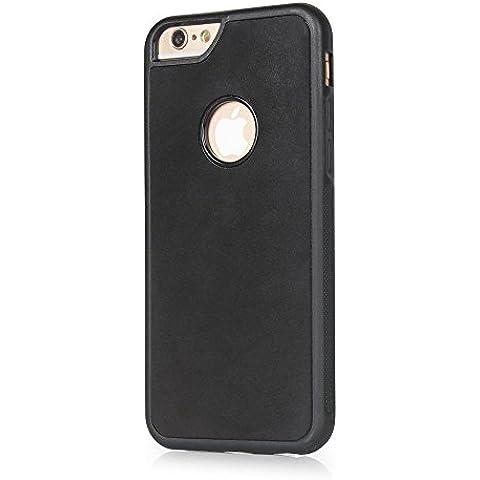 Magic Anti Gravity per cellulare, Koiiko® Magico Anti-Gravity Selfie Cover con Nano Morbido Silicone Assorbimento Adesivi per iPhone66S 4.7, di vetro/Specchi/Auto GPS e maggior parte delle superfici Nero