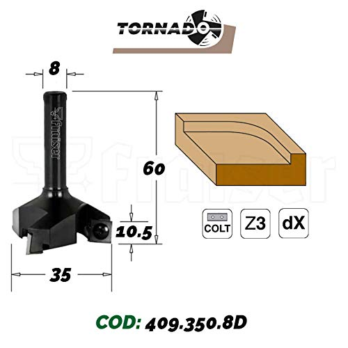 Hobelfräser mit Wendeplatten TORNADO D=35 I=10.5 S=8