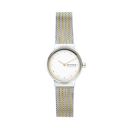 Skagen Damen Analog Quarz Uhr mit Edelstahl Armband SKW2698
