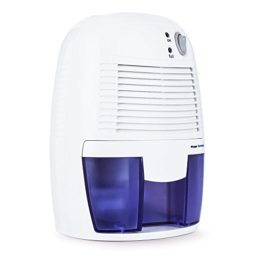 hysure Mini Dehumidifier Air Electric Dehumidifier for Home, Damp Bathroom, Garage, Wardrobe, Basement, 500ml Portable Air Dryer Moisture Absorber Bedroom, Office, Cloakroom