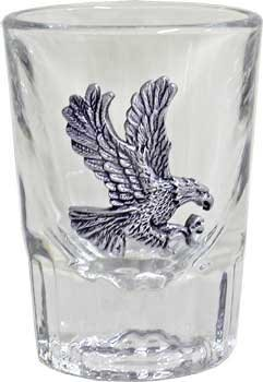 (Libbey 2oz Flying Eagle Fluted Bar Shot Glass by AWOL Country Western Collection)