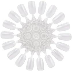 TRIXES Rueda de Arte en Uñas con18 Puntas Postizas y Práctica para Belleza de Manicura en Salón