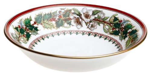 Spode Christmas Rose Cereal Bowl by Royal Worcester -