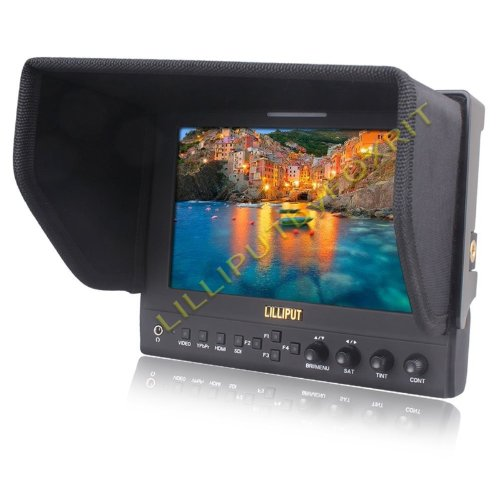 Lilliput 663/O LED Monitor mit 7'' Zoll, 1280 x 800 echt Pixel, HDMI Eingang und PIP / Check Field etc. Funktionen