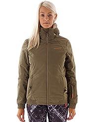 Brunotti Chaqueta de esquí invierno chaqueta chaqueta de nieve Jo verde resistente al agua caliente, color caqui, tamaño M