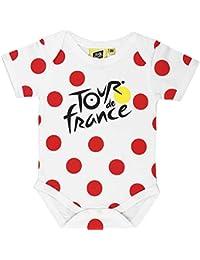 Tour de France Body – Baby Grimpeur de Ciclismo – Colección Oficial, Bebé-Niñas, Blanco, 6 Meses