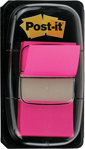 3M Post-it - Marcapáginas autodhesivos con dispensador (50 unidades cada uno, 25 mm), color rosa
