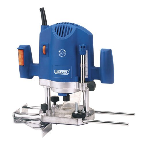 "Advanced Draper XS74338 1/4"" Plunge Router 240v + Router Bit Set [Pack of 1] --"