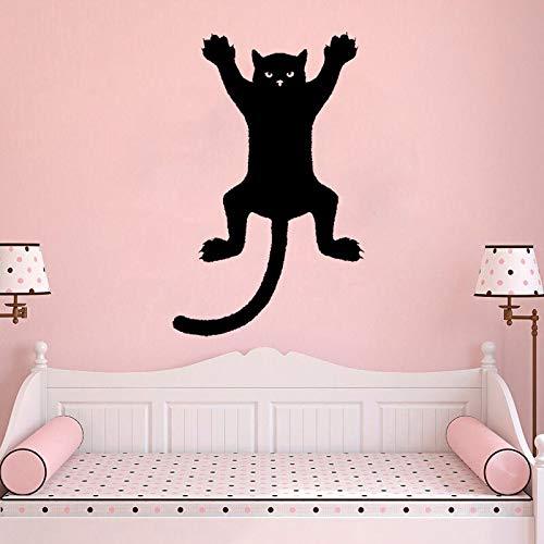 31,6 CM * 50 CM Lustige Katze Auf Einer Wand Silhouette Umriss Aufkleber Grafik PVC