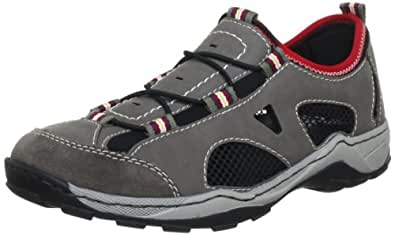 Rieker 08085-25, Herren Sneaker, Grau (brasil/polvere/schwarz/schwarz/rosso 25), EU 40