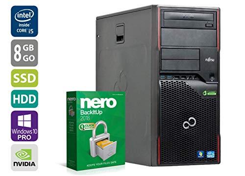 PC Gamer Fujitsu P910 - Nvidia Geforce GTX1050 - Intel Core i5-3470 @ 3,2GHz - 8Go RAM - 250 Go SSD - 1To HDD - Graveur DVD - Win10Pro (Reconditionné Certifié)