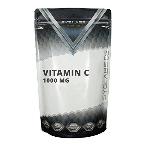 Syglabs Vitamin C 1000 mg Tabletten plus Biolavonoide und Hagebutte - 500 Tabletten, 1er Pack (1 x 650 g) (Bioflavonoide Vitamin C)
