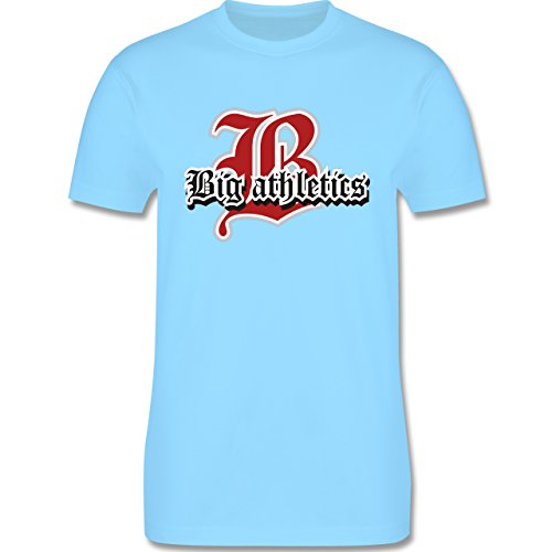 Basketball - Big Athletics - Herren Premium T-Shirt Hellblau