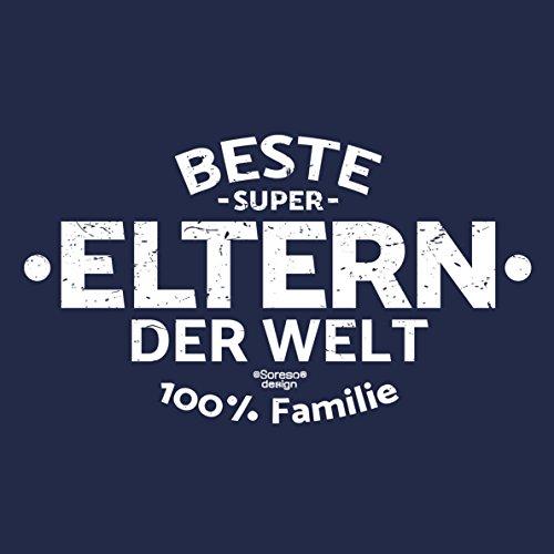 Geburtstagsgeschenk Vatertagsgeschenk Muttertagsgeschenk Geschenkidee für Sie und Ihn Eltern Papa oder Mama:-: Beste Eltern der Welt :-: Herren kurzarm T-Shirt :-: Farbe: navy-blau Navy-Blau