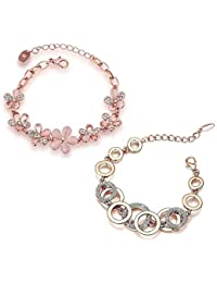 YouBella Artificial Jewellery Designer Crystal Bracelets for Women Stylish Bangles Jewellery for Girls and Women (Style-2)