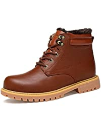 ailishabroy Classique Hiver Chaud Chaussures Hommes Neige Bottes Courtes (37 EU, Noir)